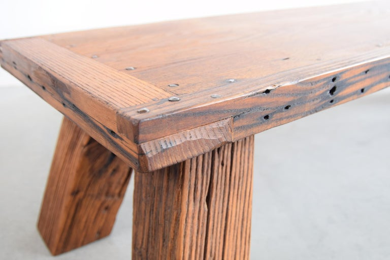 Solid Chestnut Coffee Table or Bench 1