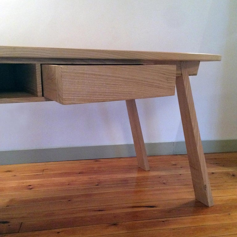 Modern Solid Chestnut Dining Table For Sale