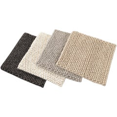 Solid-Colored Wool Textured Custom Rug