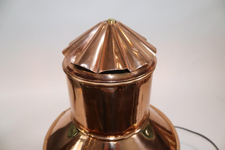 Solid Copper Ships Anchor Lantern For Sale 2