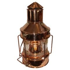 Solid Copper Ships Anchor Lantern