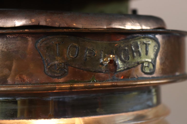 Solid copper ship's lantern. This is a