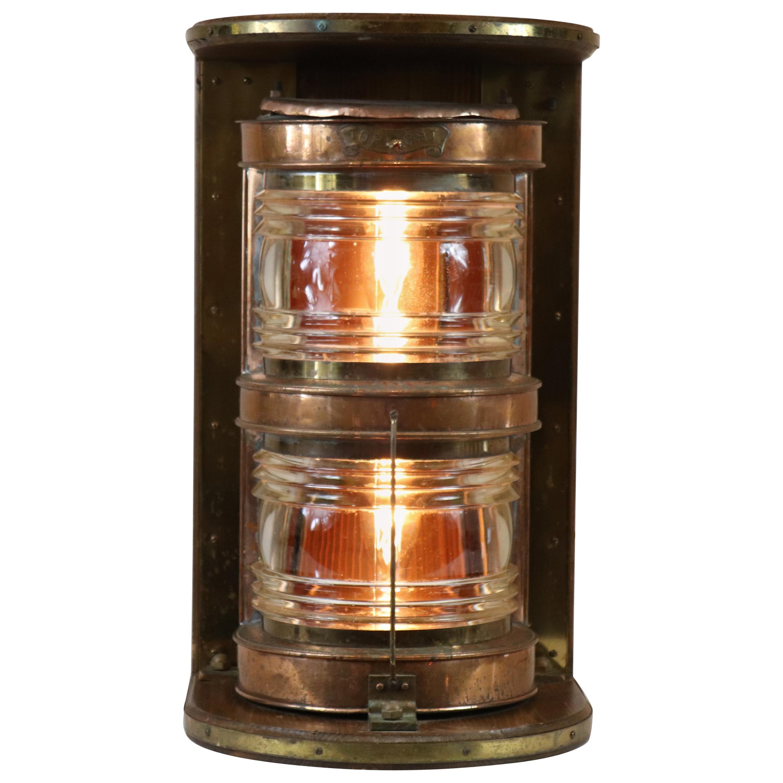 Solid Copper Ship's Lantern