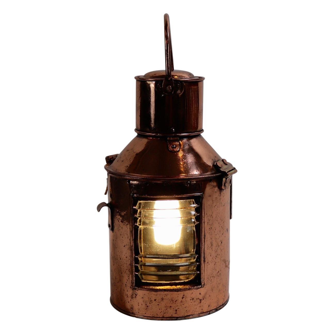 Solid Copper Ships Signal Lantern