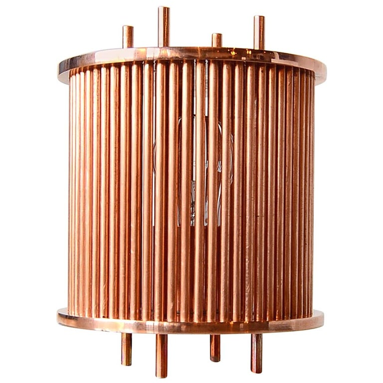 Solid Copper Table Lamp For Sale
