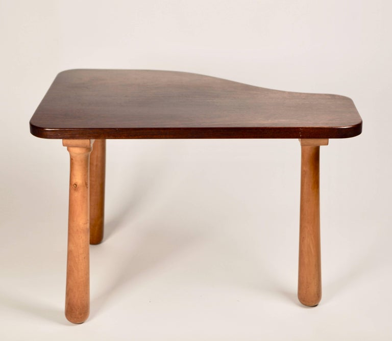 Scandinavian Modern Solid Cuban Mahogany Occasional Table, Sweden, 1940s For Sale