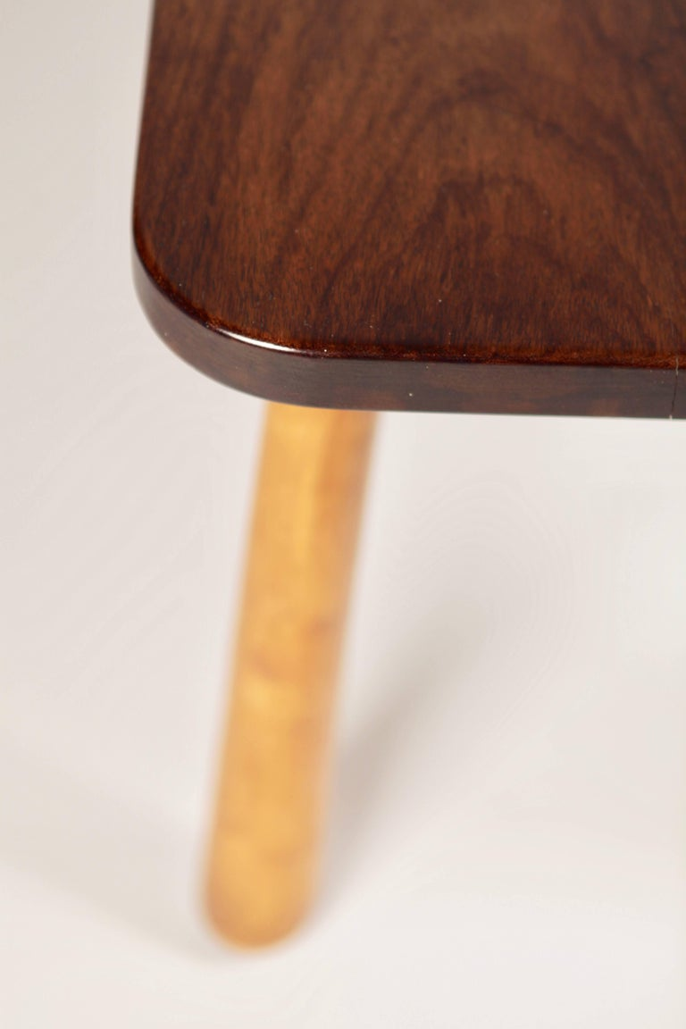 Swedish Solid Cuban Mahogany Occasional Table, Sweden, 1940s For Sale