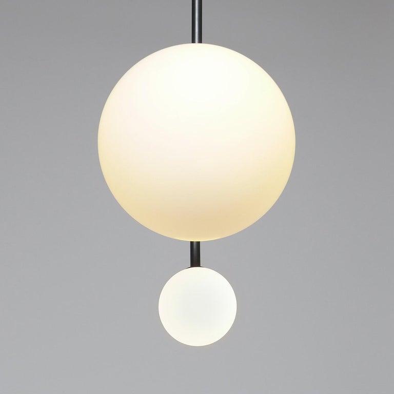 Brass Solid Equilibrum Pendant Lamp by Olek Vojtek For Sale