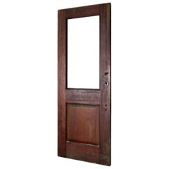 Solid Fir Raised Single Panel Door, circa 1890