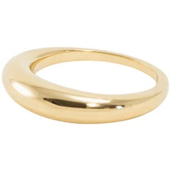 Solid Gold Circle Ring Revolution