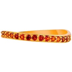 Solid Gold Garnet Ring, Garnet Ring 14k Gold, January Birthstone Ring, Rose Gold