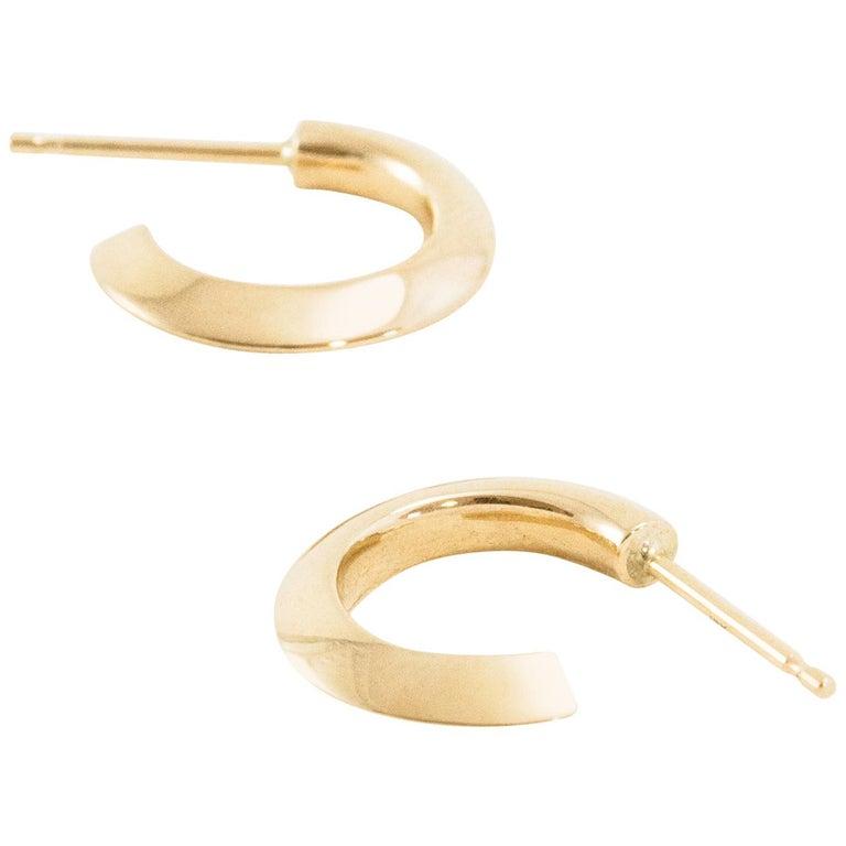 b984fe8d4b054 Solid Gold Hoop Earrings - Best All Earring Photos Kamilmaciol.Com