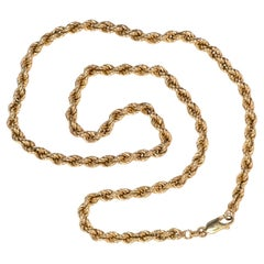 Solid Gold Rope Chain Necklace by Love and Object