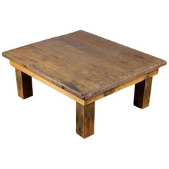 Solid Heavy Table from Reclaimed Wood, 20th Century