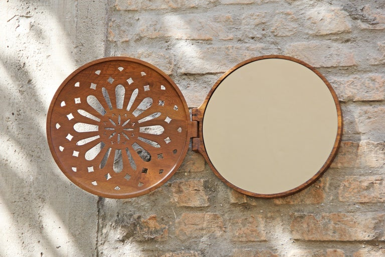 Reliquary Mirror in Imbuia Wood  For Sale 7