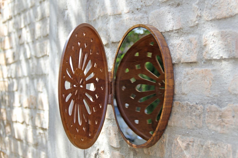 Reliquary Mirror in Imbuia Wood  For Sale 8