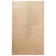 Solid Ivory Large Antique Chinese Rug. 8 ft 10 in x 15 ft
