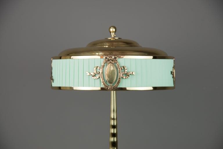 Lacquered Solid Jugendstil Table Lamp, circa 1908 For Sale
