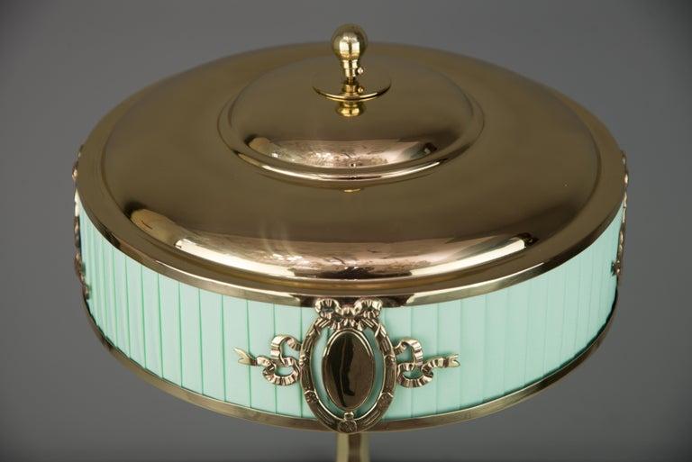 Brass Solid Jugendstil Table Lamp, circa 1908 For Sale