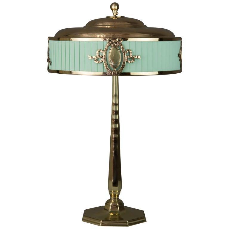 Solid Jugendstil Table Lamp, circa 1908 For Sale