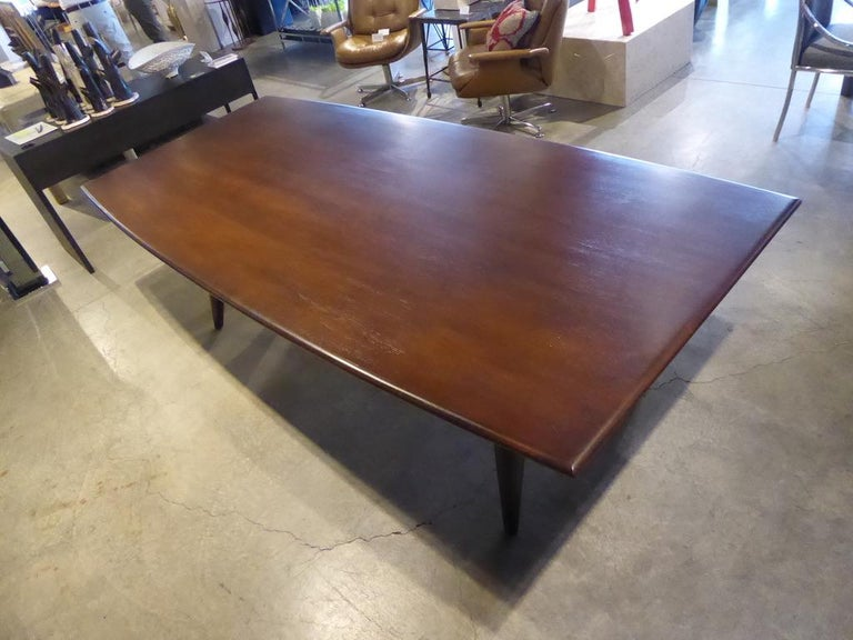 Solid Mahogany Dining Table Attributed to Monteverdi-Young, circa 1950s For Sale 2