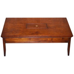 Solid Hardwood Harrods Kennedy Military Campaign Coffee Table Internal Storage
