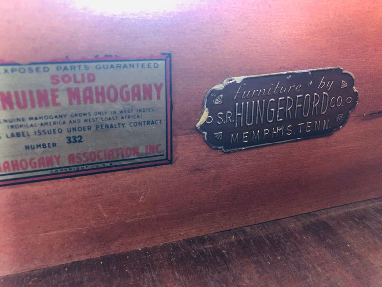 Solid Mahogany Wood Dresser For Sale 7