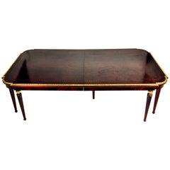 Solid Mahogany Wood with Hand Carved Gold Leaf Details
