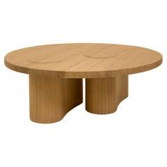 Solid Oak and Veneer Coffee Table by Helder Barbosa