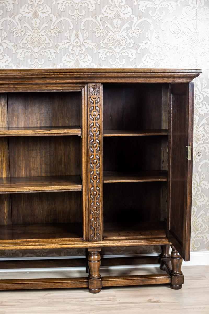 Solid Oak Bookcase From The 1940s For Sale At 1stdibs