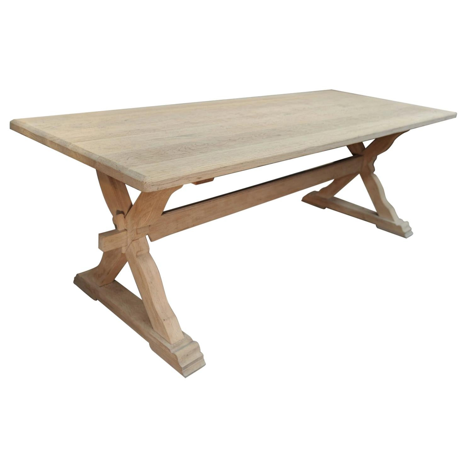 Solid Oak Dining Table, circa 1950