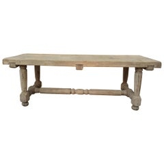 Solid Oak French Dining Table, circa 1900