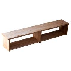 Solid Oak Mobley Bench in Natural Golden Finish
