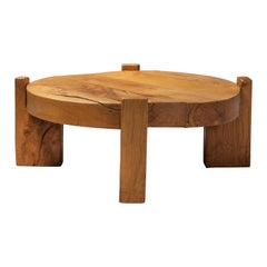 Solid Oak Round Coffee Table