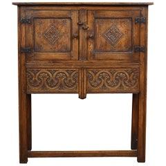 Solid Oak Side Cabinet