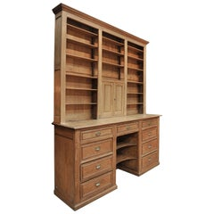 Solid Oak Two Corps Buffet Cabinet, circa 1900