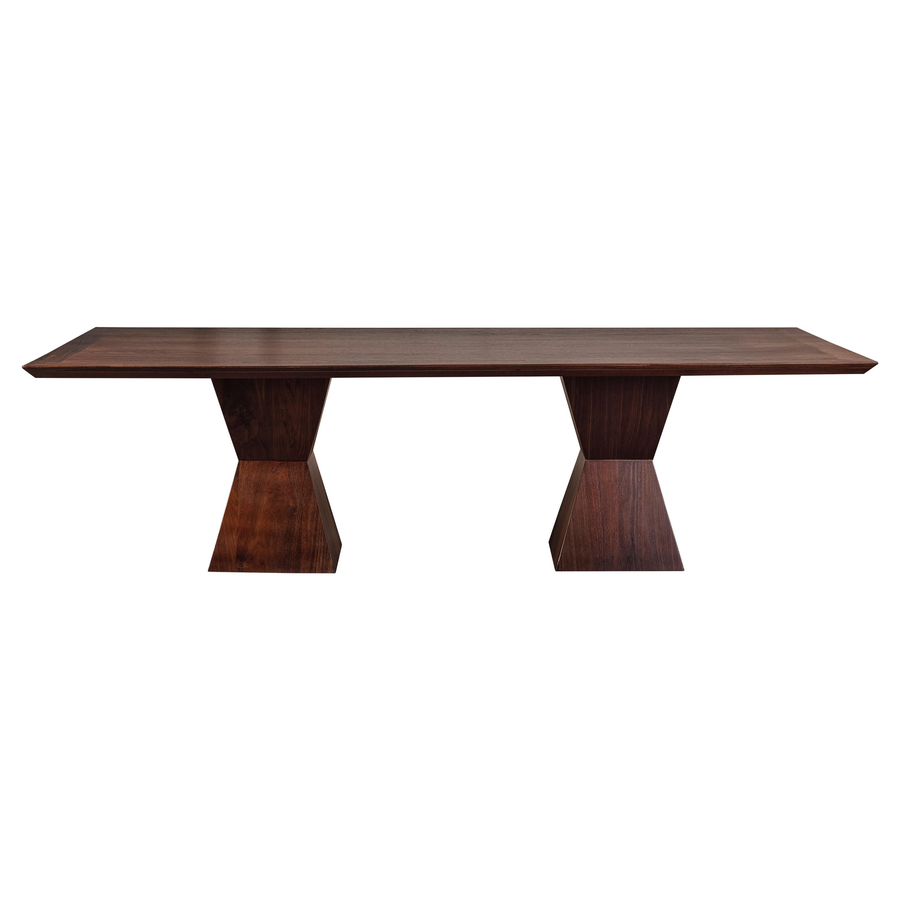 Solid Peruvian Natural Walnut Dining Table