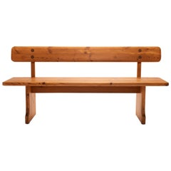 Solid Pine Bench by Carl Malmsten for Karl Andersson & Söner, Sweden, 1960s
