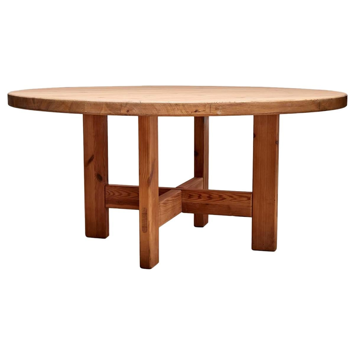 Solid Pine Dining Table by Roland Wilhemsson for Karl Anderson & Soner
