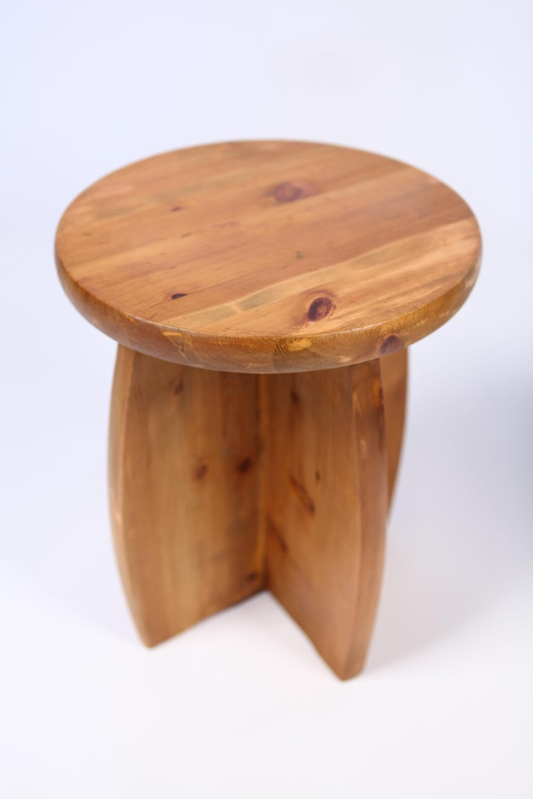 Swedish Solid Pine Stools, Sweden, 1950s For Sale