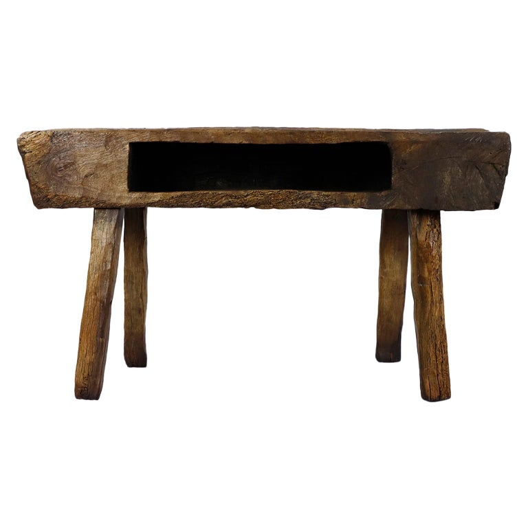 Mesquite bench, 1930, offered by 7710Gallery