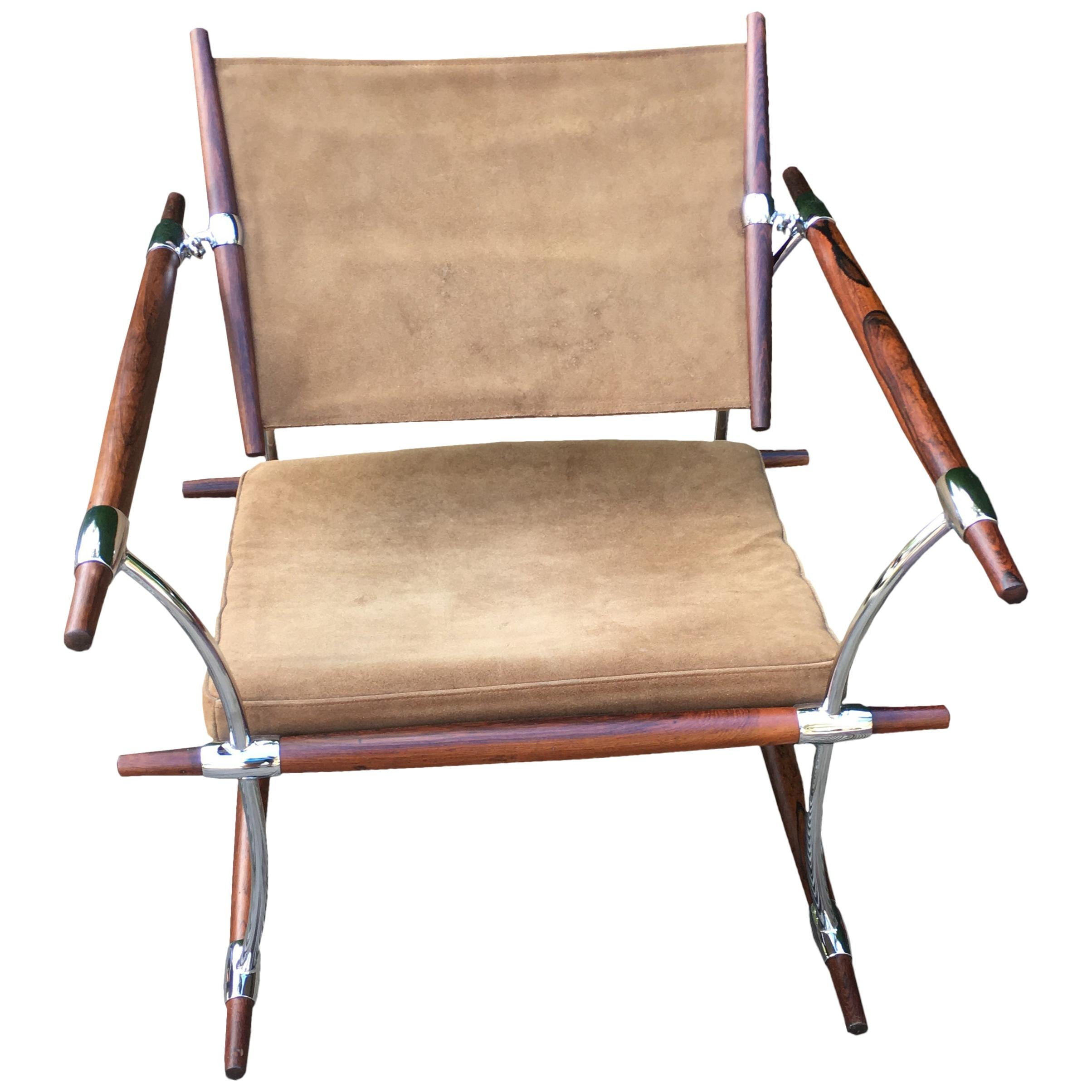 Solid Rosewood and Chrome 'Stick' Chair by Jens Quistgaard for Nissen Langea