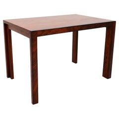 Exquisite Modern Solid Rosewood & Mahogany Side Table Studio Piece 1980s