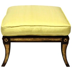 Solid Rosewood and Parcel-Gilt Stool