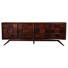 Solid Rosewood & Brass Sideboard or Credenza