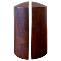 Solid Rosewood Salt and Pepper Shakers, 1950s