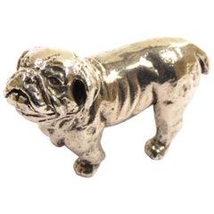 Solid Silver Dog Figurine Vintage, 1970s