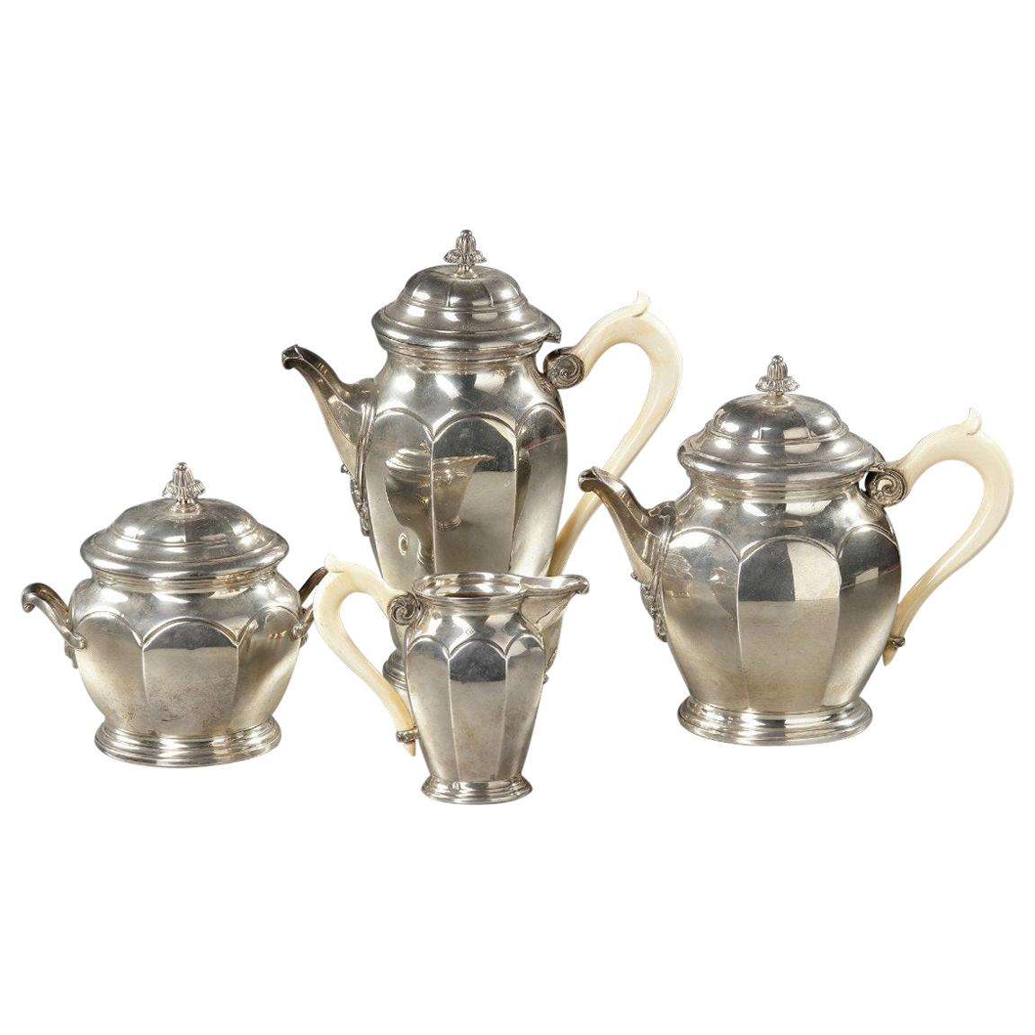 Solid Silver Tea and Coffee Service, 19th Century