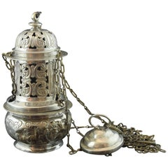Solid Silver Thurible, Baroque, 17th Century