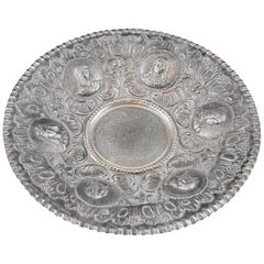 Solid Silver Tray, after 18th Century Models, 20th Century
